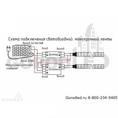 Светодиодная лента LP IP22 2835/120 LED (теплый белый, 12) 4601011102026, 5м